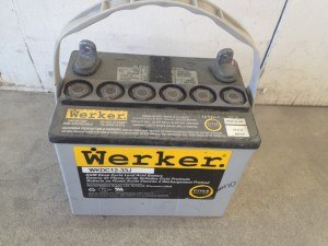 12 volt battery for powering paintless lights, etc.